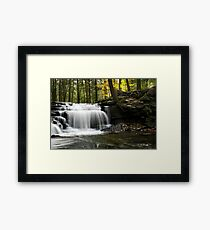 Serenity Waterfall Landscape Framed Print