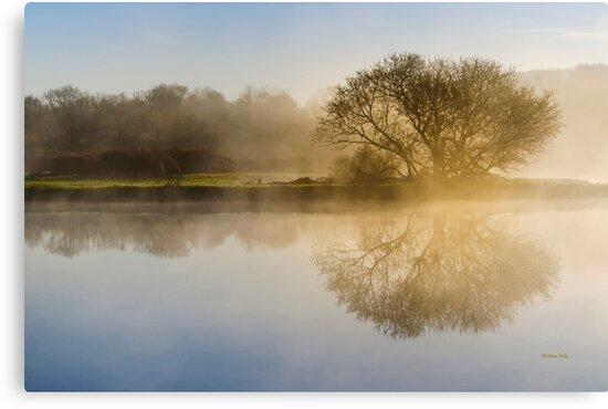 Misty Sunrise Landscape by Christina Rollo