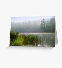 Foggy Sunrise Landscape Greeting Card