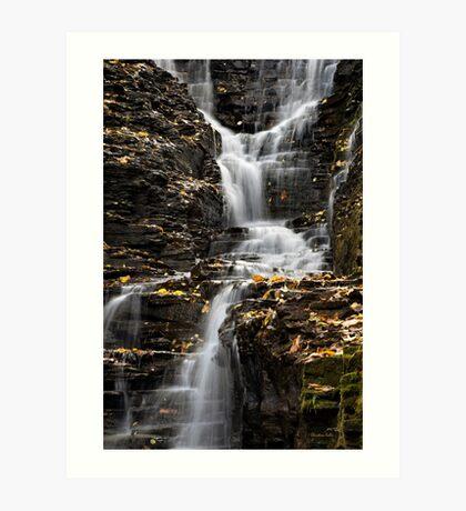 Winding Waterfall Landscape Art Print