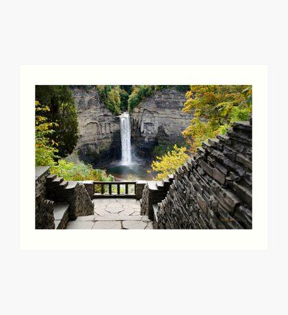 Taughannock Falls Overlook New York Landscape Art Print