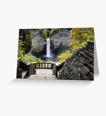 Taughannock Falls Overlook New York Landscape Greeting Card