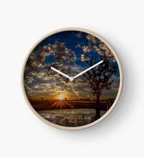 Longlea Sunset Clock