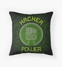 Hacker Power Throw Pillow