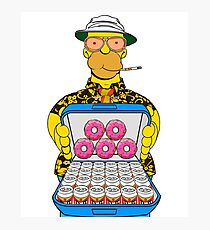 Homer Simpson Fear and Loathing Photographic Print