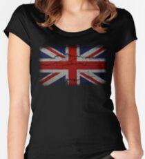 Vintage Peeling Union Jack Women's Fitted Scoop T-Shirt