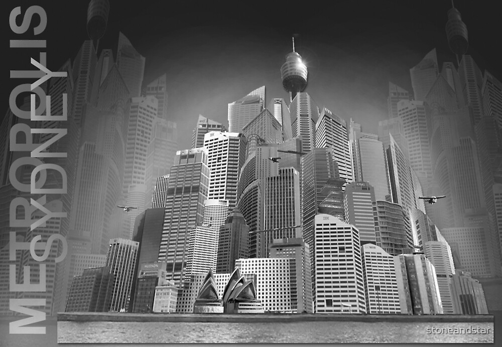 Sydney as Metropolis by stoneandstar