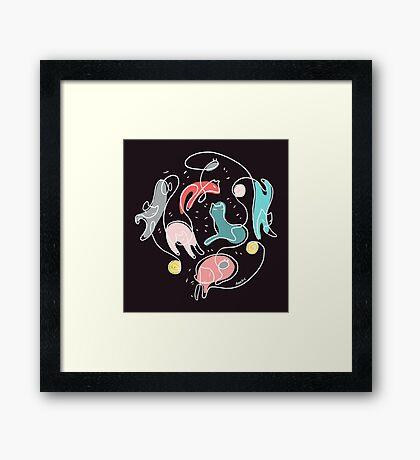 Cat Yarn Framed Print