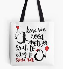 Penguin Love Quote Tote Bag