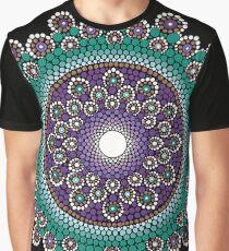 Dot Mandala Art Purple and Teal  Graphic T-Shirt
