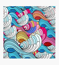 Sea colorful wave pattern Photographic Print