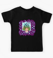 Octopus & Fairy - Coffee Time - in Purple Kids Tee
