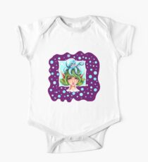 Octopus & Fairy - Coffee Time - in Purple One Piece - Short Sleeve