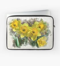 Daffodil Watercolor Laptop Sleeve