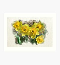 Daffodil Watercolor Art Print