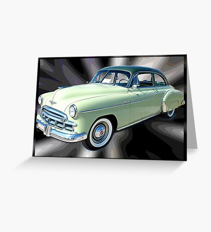 '49 Chevy Straight Up Greeting Card