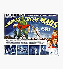 Vintage Invaders from Mars Science Fiction Movie Photographic Print