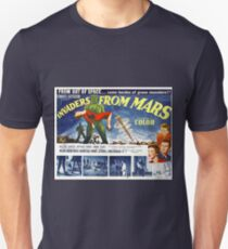 Vintage Invaders from Mars Science Fiction Movie Unisex T-Shirt