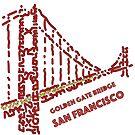Golden Gate Bridge San Francisco  by Karotene