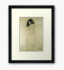 Gustav Klimt - Portrait Of A Young Woman Framed Print