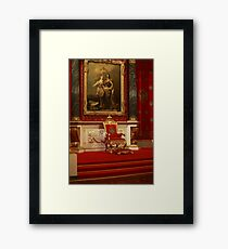 Throne of Emperor Peter the Great Framed Print