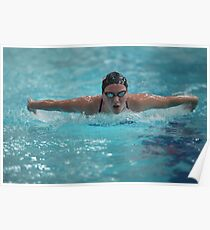 Swimming  style  butterfly Women  Poster