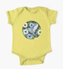 Blue Bird & Anemone Art Print Kids Clothes