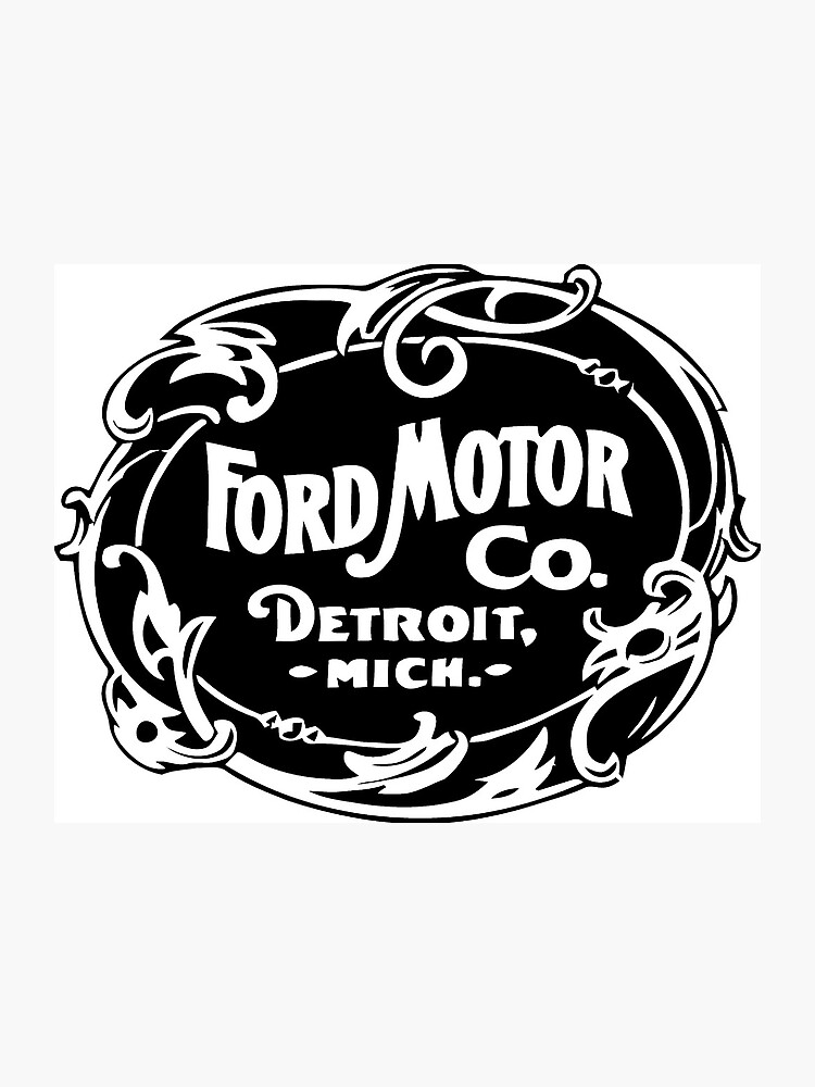 Ford Motor Co Vintage Logo | Photographic Print