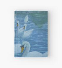 River Nene Swans Hardcover Journal