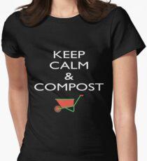 Keep Calm Compost Shirt Funny Mulch Composting Gardening Tee T-Shirt