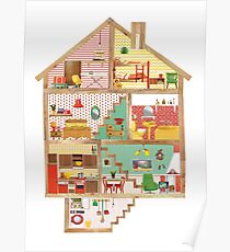 Dollhouse Collage Poster