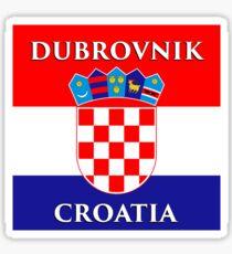 Dubrovnik Croatia - Croatian Flag Design Sticker