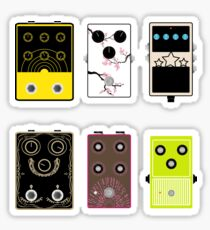 Guitar pedals v3 Sticker