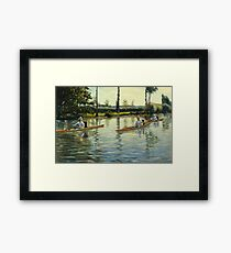 Gustave Caillebotte - Boating On The Yerres (Perissoires Sur Lyerres) (1877) Framed Print