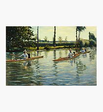 Gustave Caillebotte - Boating On The Yerres (Perissoires Sur Lyerres) (1877) Photographic Print