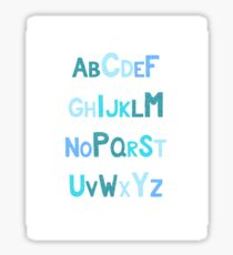 Blue Glitter Alphabet Sticker