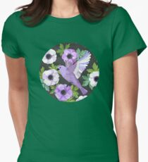 Purple Paper Anemone Collage Womens Fitted T-Shirt