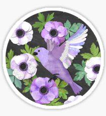 Purple Paper Anemone Collage Sticker
