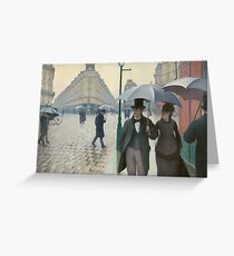 Gustave Caillebotte - Paris Street Rainy Day (1877) Greeting Card