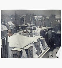 Gustave Caillebotte - Rooftops In The Snow (Snow Effect) 1878 Poster