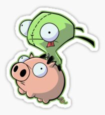 Gir riding his Pig Sticker