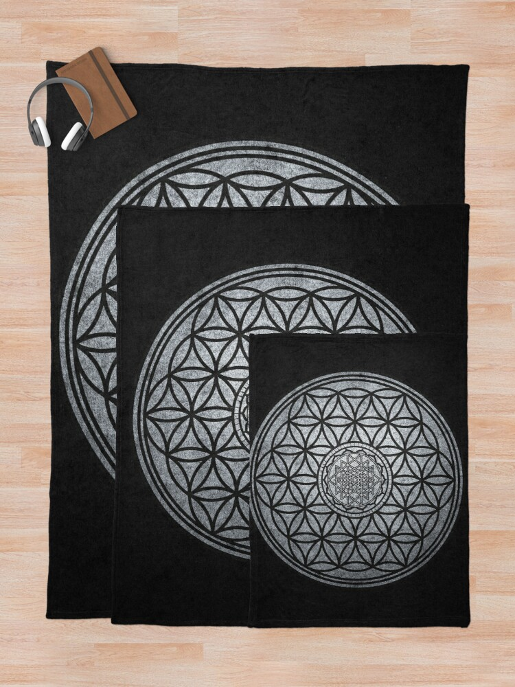 Alternate view of Sacred Unity - Sacred Geometry Throw Blanket