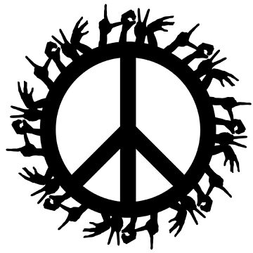 World Peace And Love Sign Freedom Justice Inspirational Positive T-Shirts by Hippie-Nation