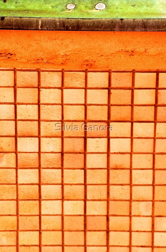 Abstract wall with squares by Silvia Ganora