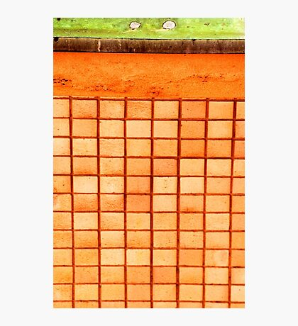 Abstract wall with squares Photographic Print