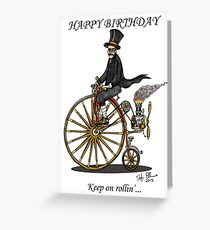 STEAMPUNK PENNY FARTHING BICYCLE BIRTHDAY CARD Greeting Card
