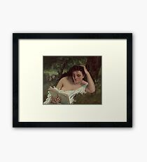 Gustave Courbet - A Young Woman Reading  1866  Framed Print