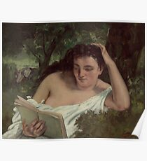 Gustave Courbet - A Young Woman Reading  1866  Poster