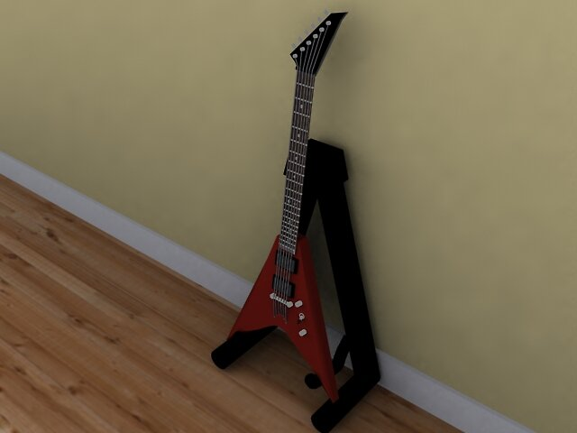jackson guitar on stand by h3ppy