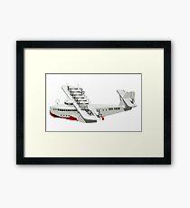 Cartoon retro flying boat Framed Print